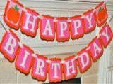 Happy Birthday Banner orange Little Pumpkin Pink orange Happy Birthday Banner Fall Girly