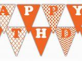 Happy Birthday Banner orange orange Happy Birthday Banner Printable Rainbow Collection
