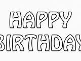 Happy Birthday Banner Outline Happy Birthday Text Outline Free Stock Photo Public
