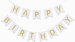 Happy Birthday Banner Pastel Colors Glitter Happy Birthday Bunting Banner Hanging Garlands