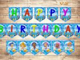 Happy Birthday Banner Pdf Download Items Similar to Bubble Guppies Happy Birthday Banner