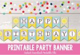 Happy Birthday Banner Pdf Download Items Similar to Sunshine Happy Birthday Banner Instant
