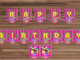 Happy Birthday Banner Pdf Editable Shopkins Birthday Banner Printable Happy by