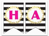 Happy Birthday Banner Pdf Free Printable Happy Birthday Banner and Alphabet Six