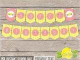 Happy Birthday Banner Pdf Lemonade Party Happy Birthday Banner Yellow Peach Pink