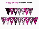 Happy Birthday Banner Per Letter Printable Editable Banner Diva Birthday Banner Printable Personalized