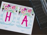 Happy Birthday Banner Per Letter Printable Free Printable Birthday Banner Six Clever Sisters