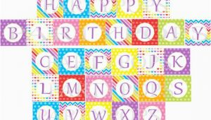 Happy Birthday Banner Per Letter Printable Items Similar to Digital Rainbow Happy Birthday Banner