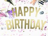Happy Birthday Banner Pink and Silver Happy Birthday Banner Glitter Birthday Banner