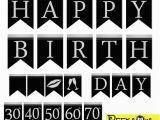Happy Birthday Banner Pink and Silver Instant Download Black Silver Birthday Banners Printable