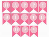 Happy Birthday Banner Pink and Silver Instant Download Donuts Dots Printable Happy Birthday