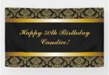 Happy Birthday Banner Printable Black and Gold Black and Gold Birthday Indoor Outdoor Banners Zazzle