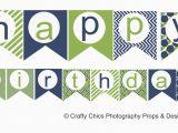 Happy Birthday Banner Printable Diy Blue Green Happy Birthday Banner Printable