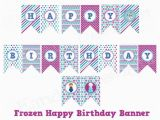 Happy Birthday Banner Printable Free Download Frozen Happy Birthday Banner Instant Download Printable