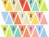 Happy Birthday Banner Printable Free Pdf Happy Birthday Banner Kimberlychurch Spoonflower