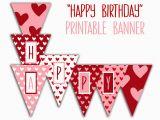 Happy Birthday Banner Printable Happy Birthday Banner Birthday Party Printable Sign Red