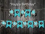 Happy Birthday Banner Printable Pdf Items Similar to Turquoise Happy Birthday Banner