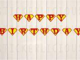 Happy Birthday Banner Printable Pdf Printable Superman Happy Birthday Banner Small Diy Digital