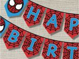 Happy Birthday Banner Printable Spiderman 1000 Images About Spiderman Happy Birthday On Pinterest
