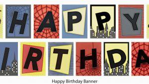 Happy Birthday Banner Printable Spiderman Birthday Spiderman Banner Printable Diy 14 99 Via Etsy
