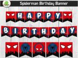 Happy Birthday Banner Printable Spiderman Spiderman Happy Birthday Banner Spider Man by Planetpix On