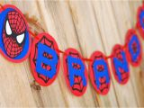 Happy Birthday Banner Printable Spiderman Spiderman Inspired Happy Birthday Banner