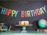 Happy Birthday Banner Printable Violet