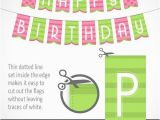 Happy Birthday Banner Printable Violet Printable Banner Happy Birthday In Green and Pink