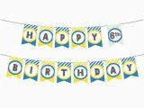 Happy Birthday Banner Printable Yellow Printable Birthday Banner In Yellow Blue Especially Paper
