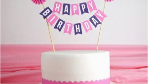 Happy Birthday Banner Publix Cake Cake Bunting Happy Birthday with Rosette In by Especiallypaper