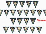 Happy Birthday Banner Ready to Print Alberto S On Etsy