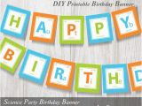 Happy Birthday Banner Ready to Print Science Party Printable Banner Periodic Table Of Elements