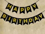 Happy Birthday Banner Red and Black Black Happy Birthday Decorations Party Bunting Banner with