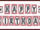 Happy Birthday Banner Red and Black Free Printable Quot Happy Birthday Quot Banner Red Black White