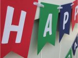 Happy Birthday Banner Red and White Happy Birthday Banner Red Blue Green and White From
