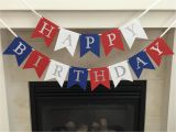 Happy Birthday Banner Red and White Red White and Blue Birthday Banner Happy Birthday Banner