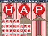 Happy Birthday Banner Red White and Blue Happy Birthday Banner Red Blue White Stripe Nifty