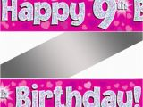 Happy Birthday Banner Reject Shop Holographic Happy 9th Birthday Banner Buy Helium