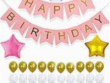 Happy Birthday Banner Reusable Amazon Com Perfect Happy Birthday Decoration Set