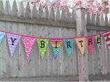 Happy Birthday Banner Reusable Custom Elena Fabric Banner Reusable and Semi Custom