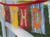 Happy Birthday Banner Reusable Fabric Happy Birthday Banner Reusable Party by Lrbridges81