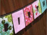 Happy Birthday Banner Reusable Happy Birthday Girls Reusable Cloth Fabric Banner Mezzanine