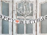 Happy Birthday Banner Rustic Happy Birthday Banners Birthday Signs Rustic by