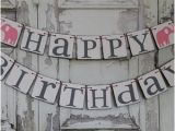 Happy Birthday Banner Rustic Popular Items for Rustic Decoration On Etsy