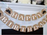 Happy Birthday Banner Rustic Rustic Happy Birthday Banner Baby Boy Birthday Decoration