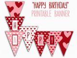 Happy Birthday Banner Sainsburys Happy Birthday Banner Birthday Party Printable Sign Red
