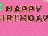 Happy Birthday Banner Sainsburys Hot Pink Happy Birthday Donuts Design Small Personalised