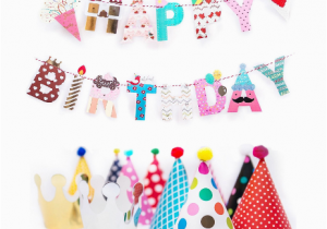 Happy Birthday Banner Small Fun and Colorful Gold Foiled Happy Birthday Banner Flags