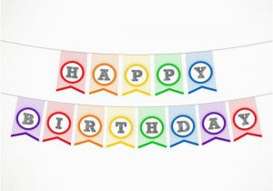 Happy Birthday Banner Small Items Similar to Printable Rainbow Birthday Banner Happy