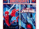 Happy Birthday Banner Spiderman Happy Birthday Spiderman Amazon Com
